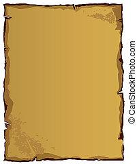 gammal, papper, (vector)