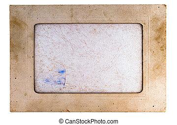 gammal, papper, vinjett, för, den, foto, 1
