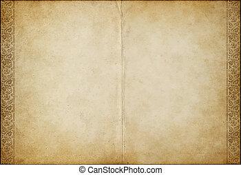 gammal, pergament, papper