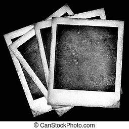 gammal, polaroidkamera
