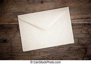 gammal, post, kuvert