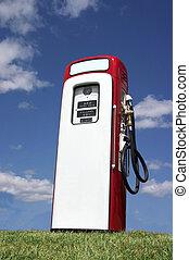 gammal, pump, bensin