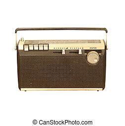 gammal, radio, årgång