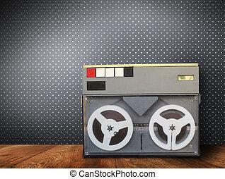 gammal,  radio,  retro