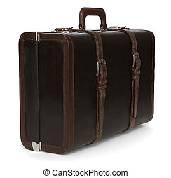 gammal, resväska