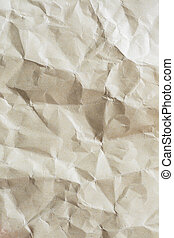 gammal, rynkig, papper