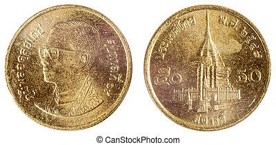 gammal, sällsynt, mynt, av, indien
