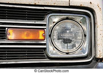 gammal, skåpbil, bil