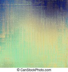 gammal, skrapet, retro-style, bakgrund., med, olik, färg, patterns:, gul, (beige);, blue;, purpur, (violet);, cyan