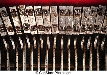 gammal, skrivmaskin