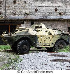 gammal, sovjetmedborgare, bepansrad fordon