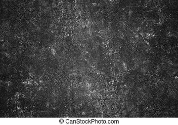 gammal, sprickor, svart, cement, wall.