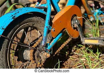 gammal, stil, cykel,  retro, Årgång