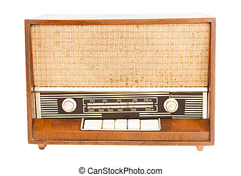 gammal, stil,  radio, Årgång