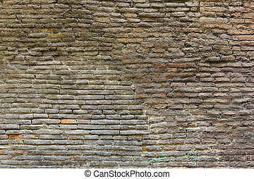 gammal, tegelsten vägg, struktur