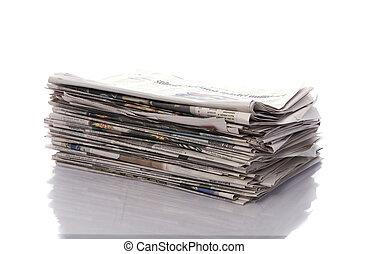 gammal, tidningar, och, tidskrifter