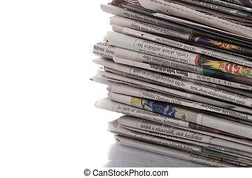 gammal, tidningar, tidskrifter