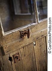 gammal, trä dörr