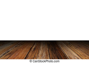 gammal, trä, isolerat, veranda