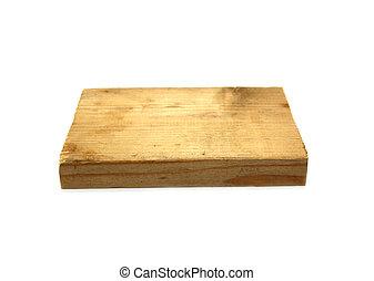 gammal, trä planka, vita, bakgrund