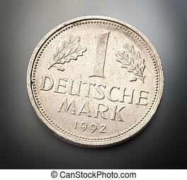 gammal, tyska peng
