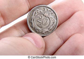 gammal, ungerska, mynt