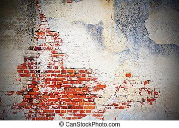 gammal, vägg, bakgrund