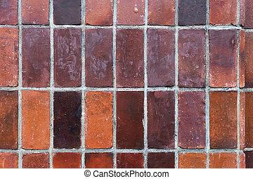 gammal, vägg, mönster, bakgrund, tegelsten, texture.