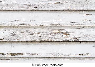 gammal, vit, ridit ut, trä, bakgrund, no., 4