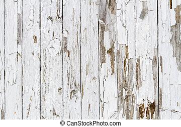 gammal, vit, ridit ut, trä, bakgrund, no., 6