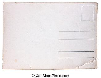 gammal, vykort, årgång, struktur, papper, skrapar, scuffs