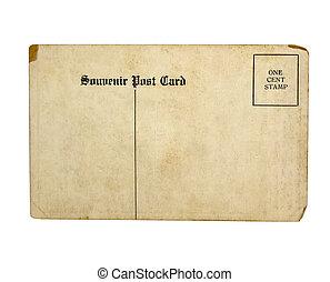 gammal, vykort