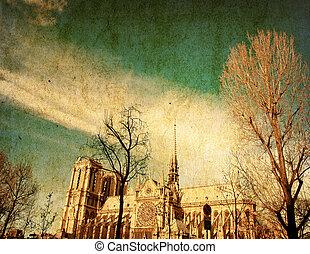 gammeldags, paris frankrig