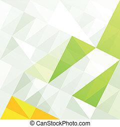 gamut, eps10, abstratos, experiência., verde, vetorial, geomã©´ricas