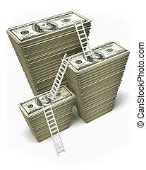 ganancia, dólares