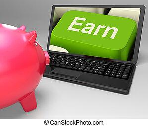 ganar, llave, exposiciones, tela, ingresos, ganancia, y, renta