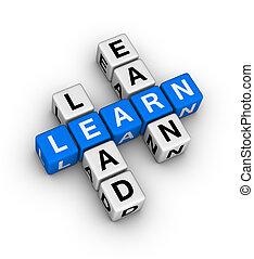 ganar, plomo, aprender