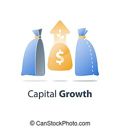 ganar, riqueza, invierta, solución, término, dinero,...