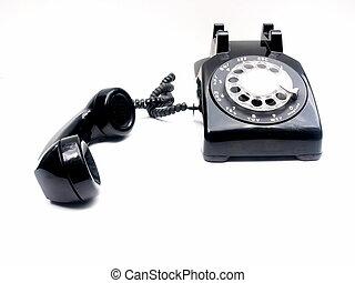 gancho, desligado, retro, telefone