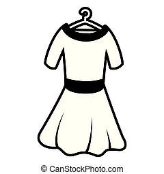 gancho, mulher, vestido
