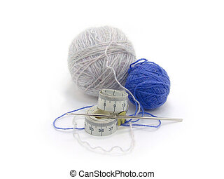 gancho, tricotando
