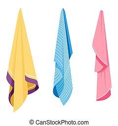 ganci, asciugamani, igiene, bagno, tessile, oggetti