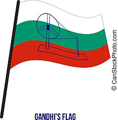 gandhi's, 議会, バックグラウンド。, イラスト, 1921, 旗, ベクトル, 白, 導入される, ミーティング
