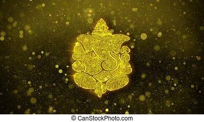 ganesh, carte, diwali, invitation, voeux, salutations, ...