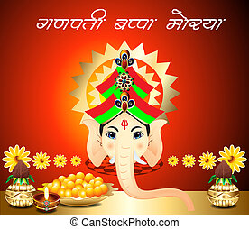 Ganesh Chaturthi Background vector illustration