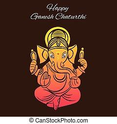 ganesh chaturthi festival poster design