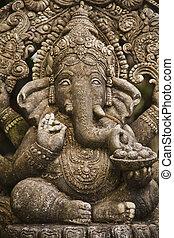 ganesh hindu god - God ganesh statue of hindo in Bangkok...