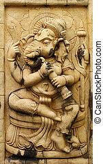 Ganesh hindu god made from Stone