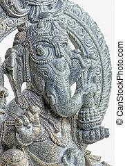 ganesh sculpture detail