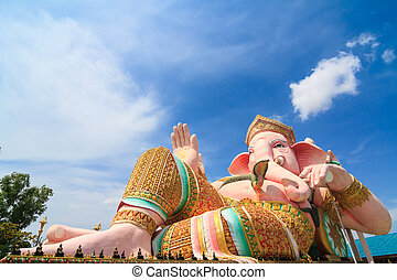 ganesha against blue sky